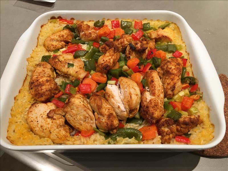 Kylling Ris Og Grønsager I Fad Opskriftslageretdk